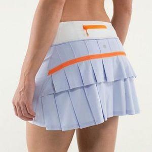 Lululemon lilac and orange Pace Setter skirt